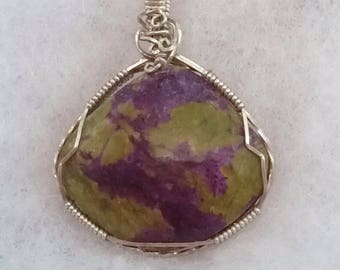 4258 Stitchite and Serpentine Pendant