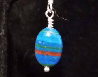 E1087 Rainbow Calsilica Earrings