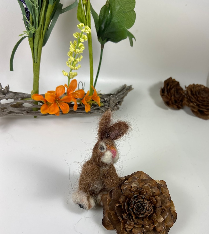 Wild Easter Bunny  inspired needle felted for display