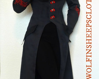 Corset Coat Embroidered Steampunk Renaissance