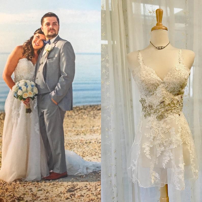 b149b4f3404 Heirloom Lingerie Negligee from Your wedding dress-grandmas