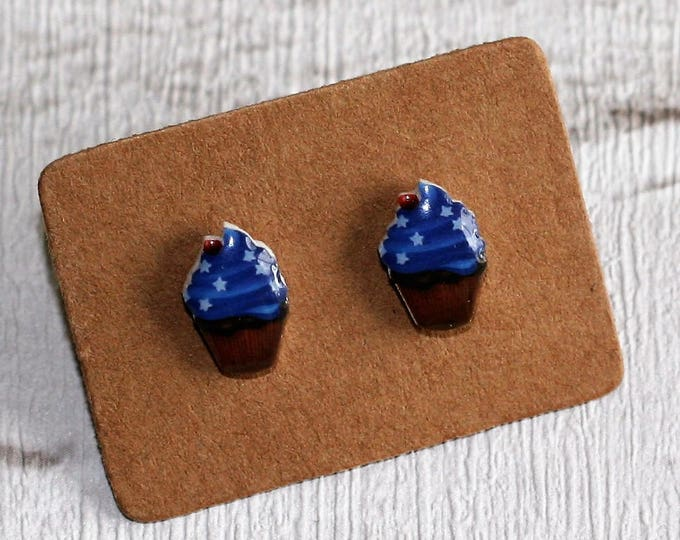 Cupcake Earrings, Teeny Tiny Earrings, Cake Jewelry, Cute Earrings, Afternoon Tea