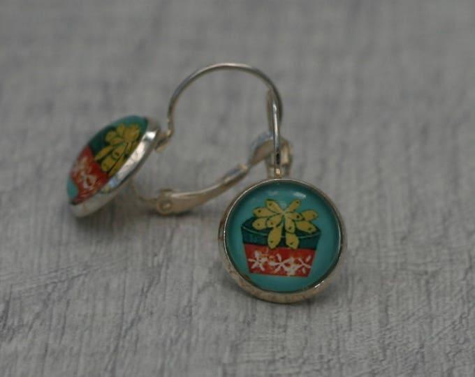 Cactus Earrings, Cacti Illustration, Dangle Earrings, Plant Jewelry