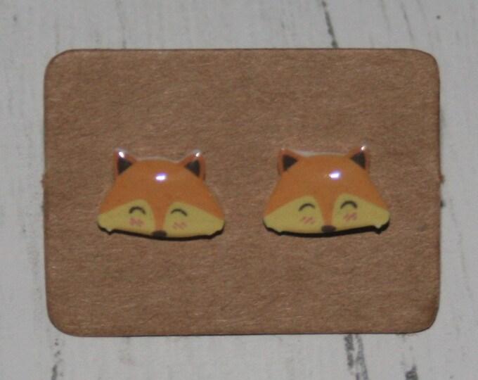 Fox Earrings, Teeny Tiny Earrings, Cute Earrings