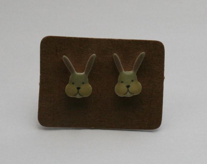 Rabbit Earrings, Teeny Tiny Earrings, Bunny Earrings, Animal Jewelry, Cute Earrings