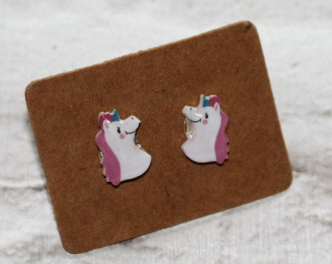 Unicorn Earrings, Teeny Tiny Earrings, Horse Jewelry, Cute Earrings