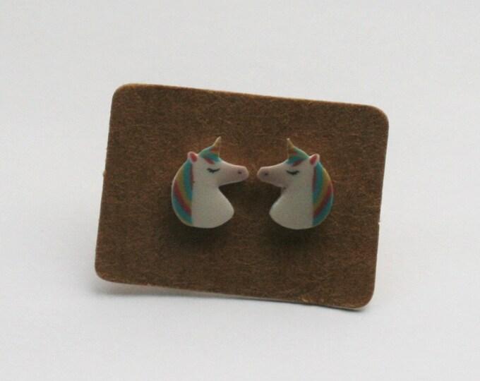 Unicorn Earrings, Teeny Tiny Earrings, Horse Jewelry, Cute Earrings