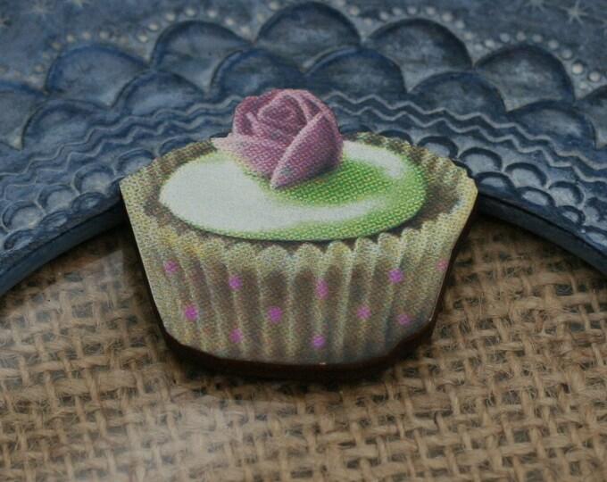 Sweet Cupcake Brooch, Cake Badge, Food Pin