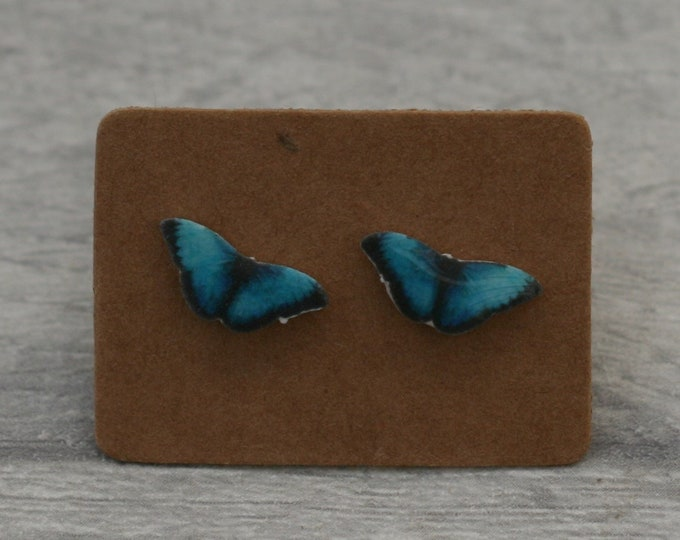 Butterfly Earrings, Teeny Tiny Earrings, Blue Butterfly Jewelry, Cute Earrings