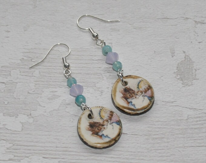 Mrs Tittlemouse Statement Earrings, Animal Jewelry