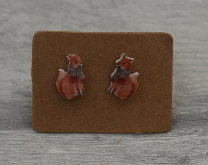 Fox Earrings, Teeny Tiny Earrings, Cute Earrings