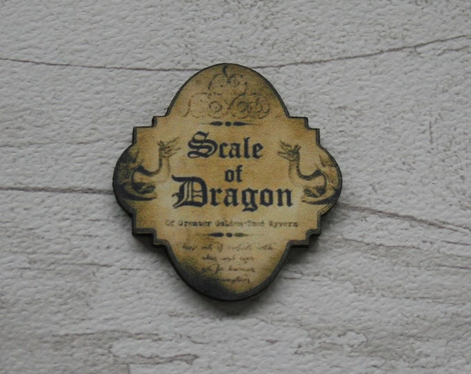 Potion Ingredient Brooch - Scale of Dragon