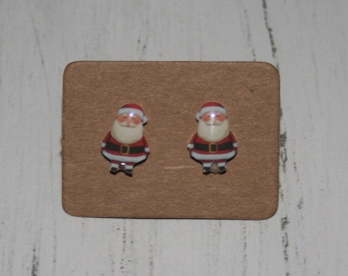 Father Christmas / Santa Claus Earrings, Teeny Tiny Earrings, Christmas Jewelry, Cute Earrings