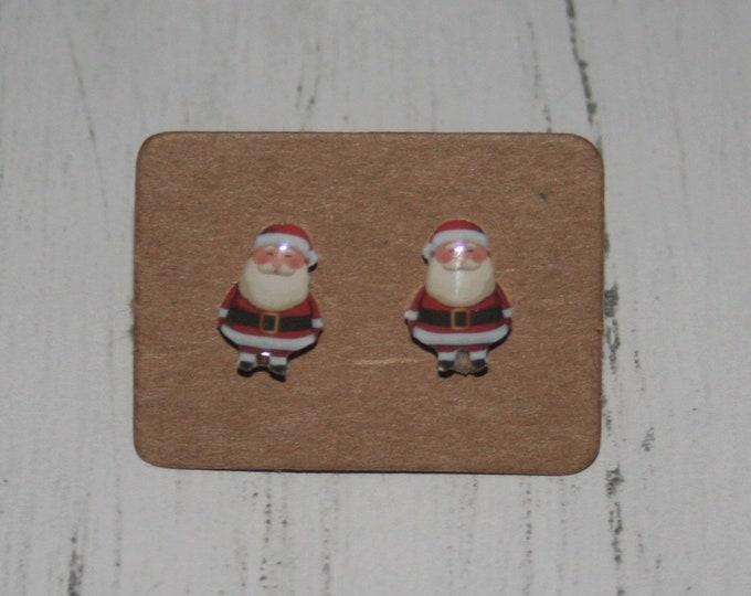 Father Christmas / Santa Claus Earrings, Teeny Tiny Earrings, Christmas Jewelry, Cute Earrings