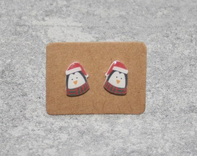 Penguin Earrings, Teeny Tiny Earrings, Penguin Jewelry, Cute Earrings