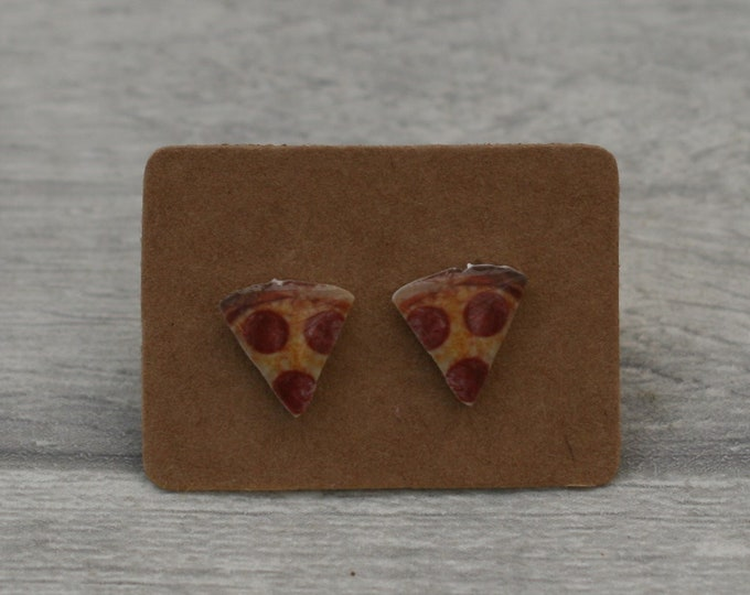 Pizza Slice Earrings, Teeny Tiny Earrings, Food Jewelry, Cute Earrings