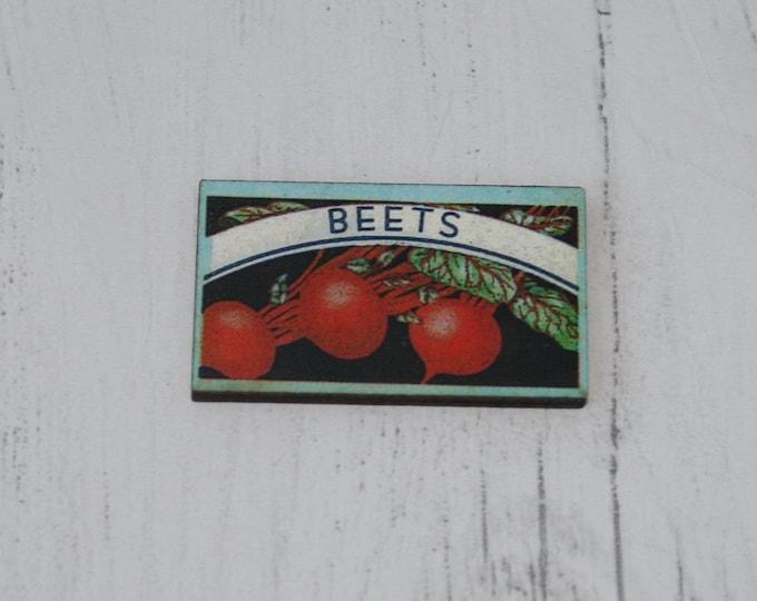 Beets Label Brooch / Badge / Pin