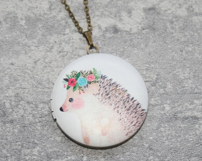 Hedgehog Locket Necklace