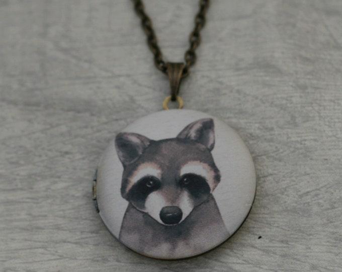 Racoon Locket Necklace