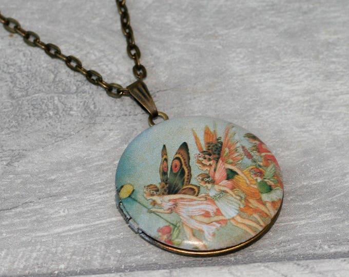 Fairy Locket Necklace, Fairy Necklace, Fairy Pendant