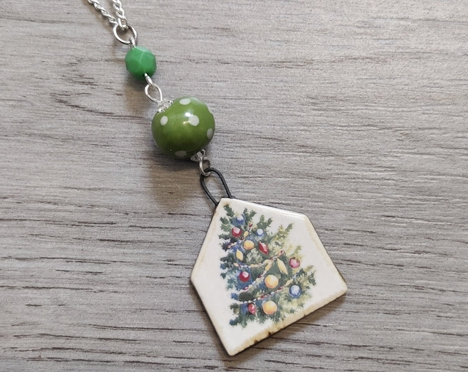 Christmas Tree Statement Necklace