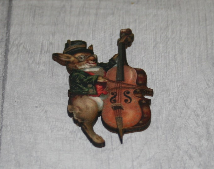 Rabbit Brooch, Wooden Rabbit Badge, Animal Brooch, Wood Jewelry, Rabbit Pin