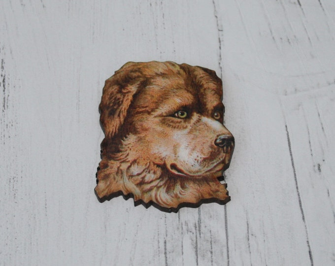 Dog Brooch, Animal Brooch, Terrier Brooch, Wood Jewelry, Puppy Badge