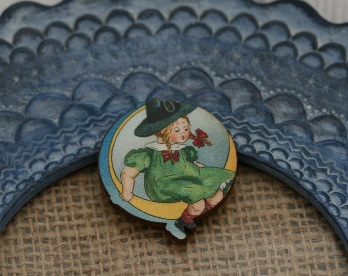 Halloween Brooch, Witch Brooch, Black Cat, Halloween Badge