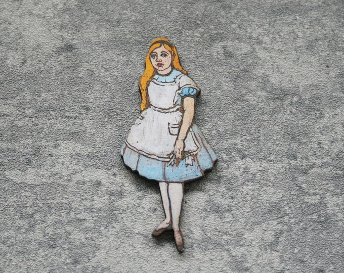 Alice Brooch, Alice in Wonderland Brooch