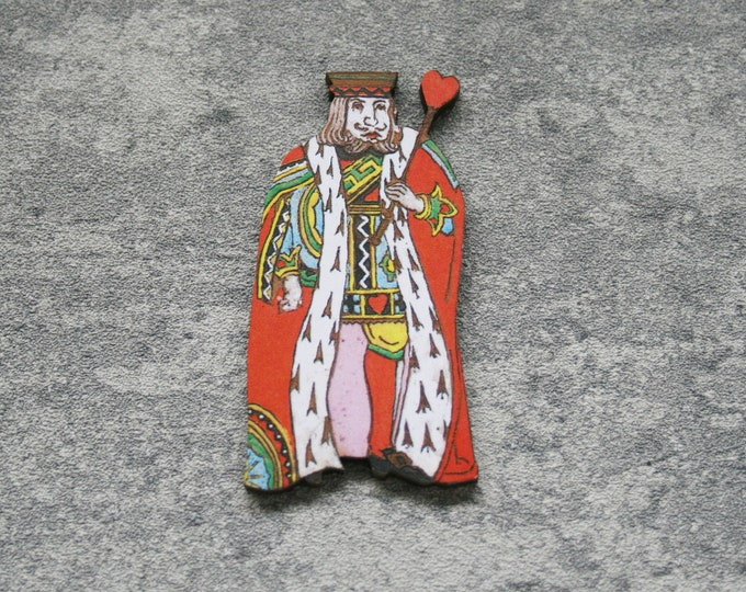 King of Hearts Brooch, Alice in Wonderland Brooch