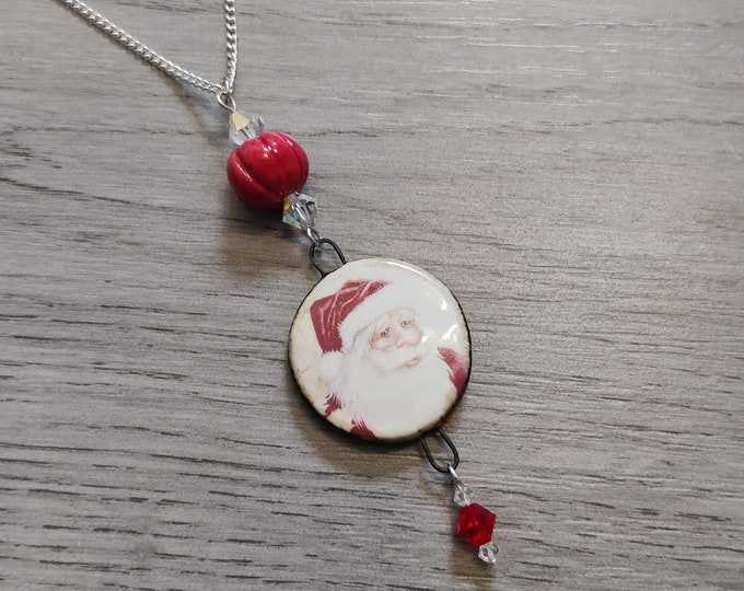 Santa Claus / Father Christmas Statement Necklace