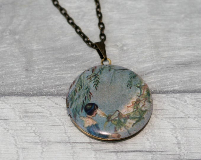 Fairy Locket Necklace, Fairy Necklace, Fairy Pendant