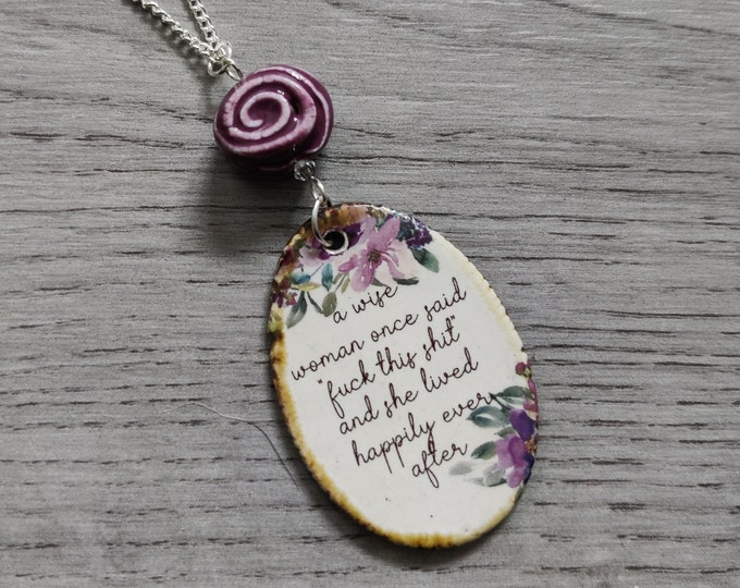 MATURE CONTENT Swear Word Necklace