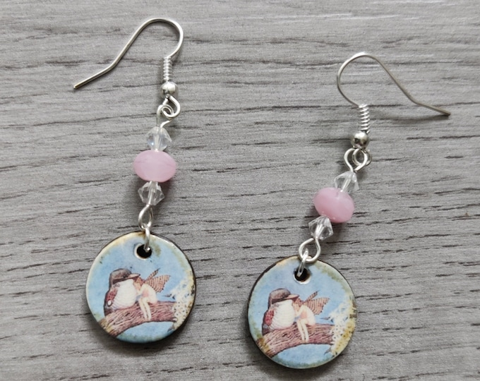 Bird and Fairy Statement Earrings