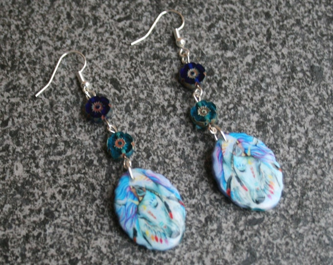 Unicorn Statement Earrings, Unicorn Jewelry