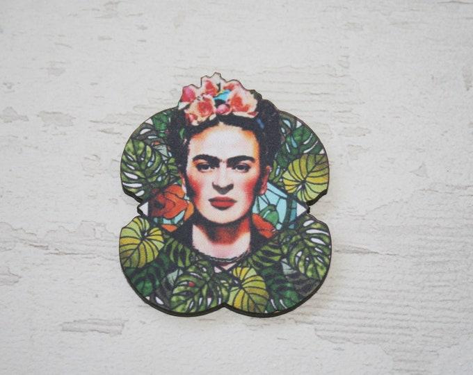 Pink Frida Brooch