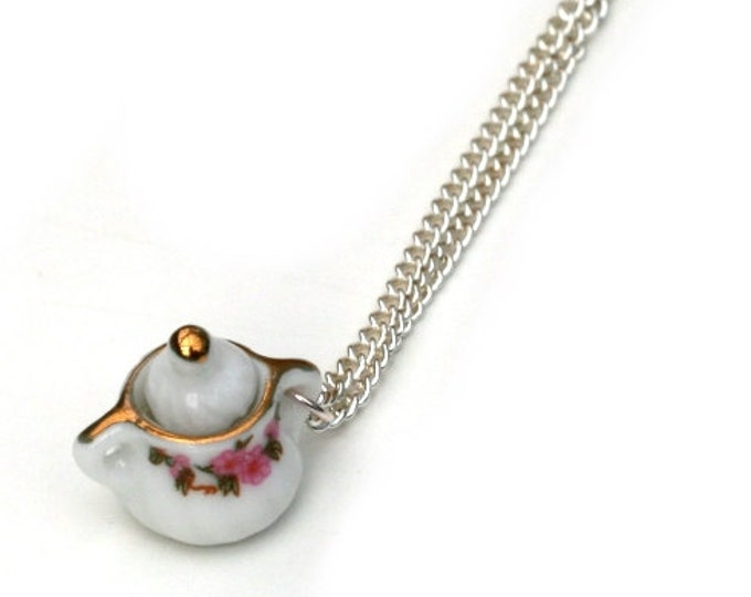 Sugar Bowl Necklace, Miniature sugar bowl necklace, Afternoon Tea