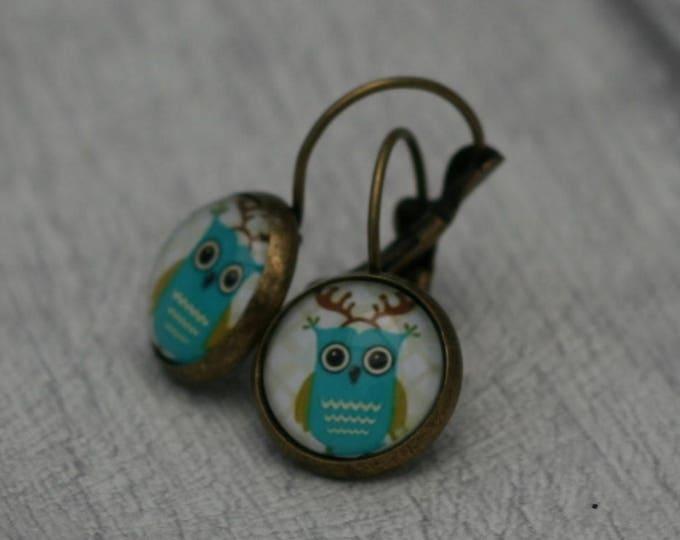 Owl Earrings, Bird Illustration, Dangle Earrings