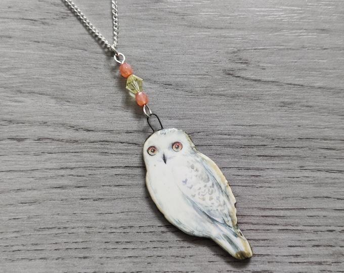 Owl Statement Necklace, Owl Pendant, Woodland