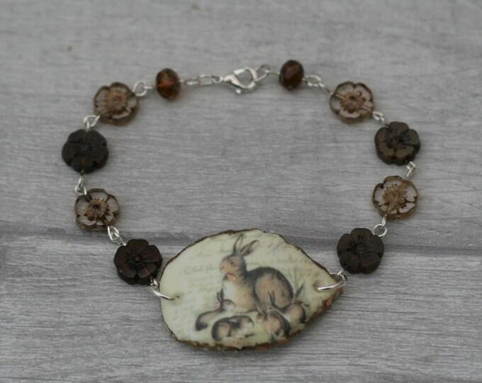 Rabbit Bracelet, Hare Bracelet, Bunny Bar Bracelet