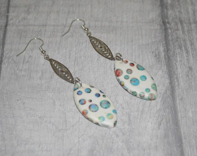 Polka Dot / Bubble Statement Earrings