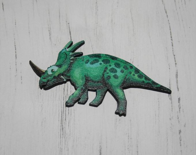 Dinosaur Brooch, Dinosaur Badge, Jurassic Park Prehistoric Jewelry, Wood Dinosaur Pin