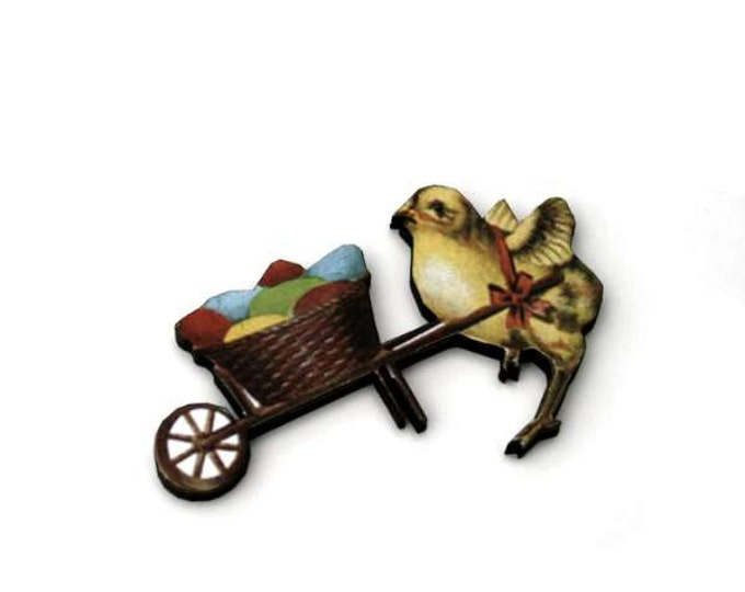Easter Egg Brooch, Easter Chick Brooch, Wood Jewelry, Animal Brooch, Spring Jewelry