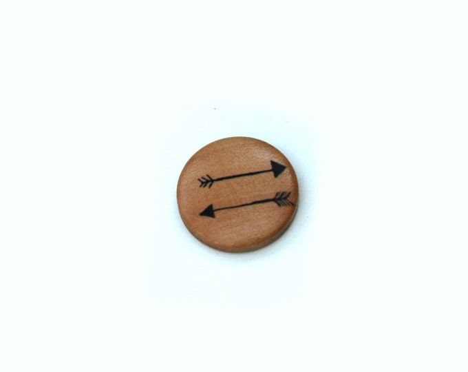 Arrow Brooch, Wood Jewelry, Wood Brooch