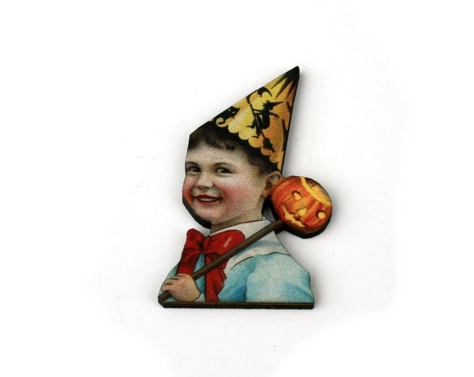 Halloween Brooch, Witch Brooch, Pumpkin, Halloween Badge