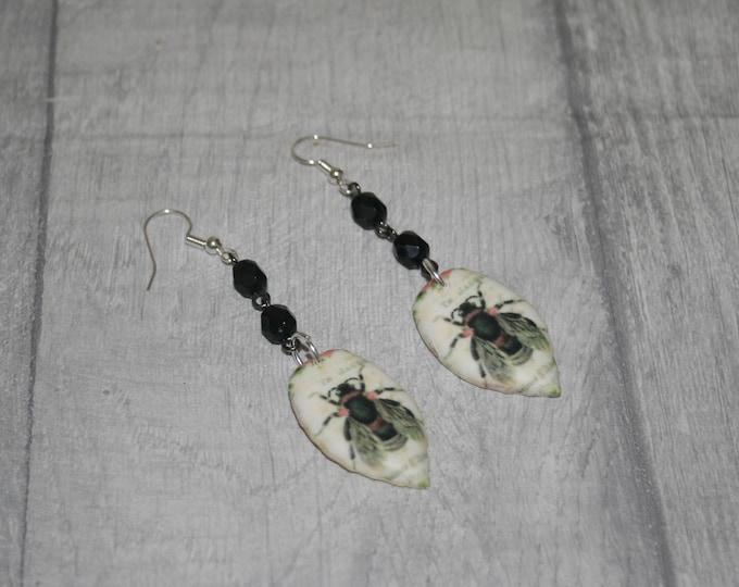 Bee Statement Earrings, Animal Jewelry