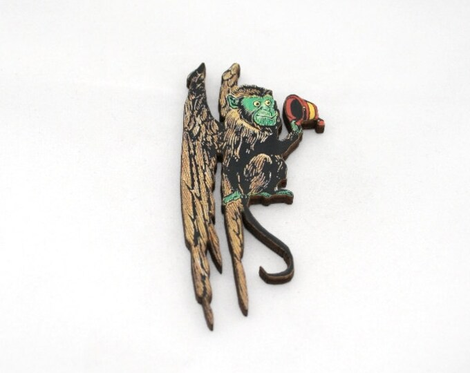 Wizard Of Oz Winged Monkey King Brooch