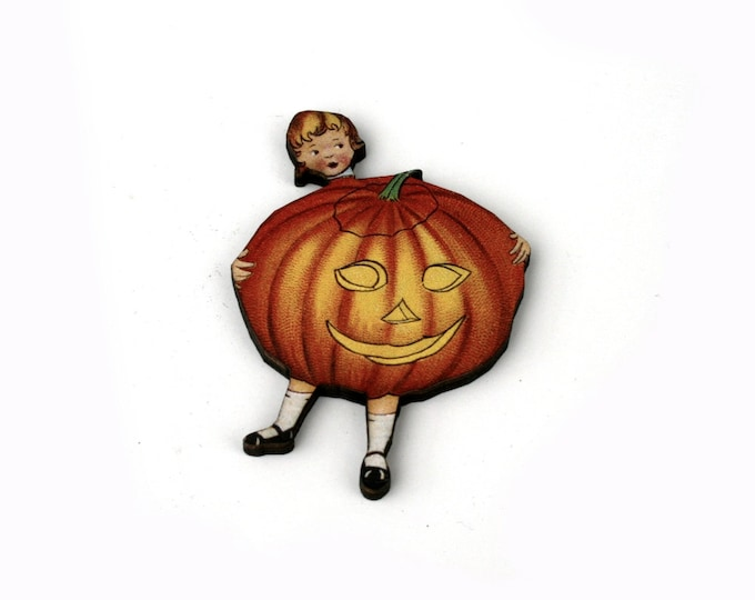 Jack O Lantern, Halloween Brooch, Pumpkin Brooch, Thanksgiving, Halloween Badge
