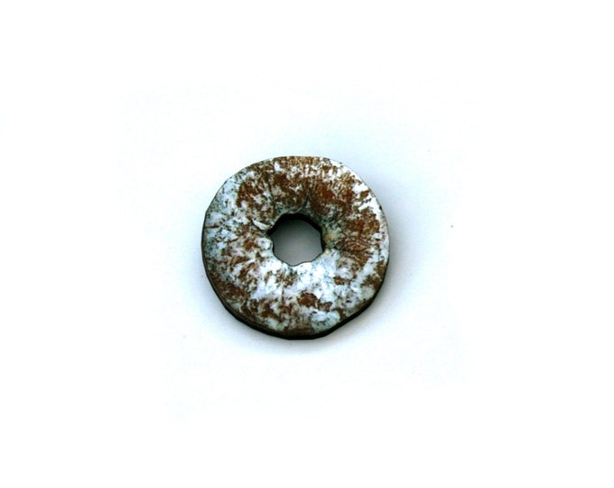 Donut Brooch, Wooden Doughnut Accessory, Iced Donut Illustration, Wood Jewelry