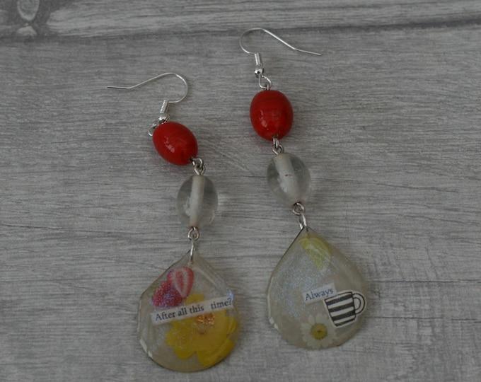 Statement Earrings, Quote Earrings, Inspirational Earrings